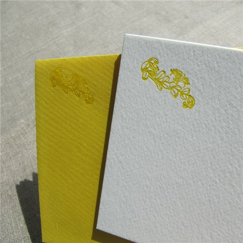 Correspondance cards - flower (packet of 10)