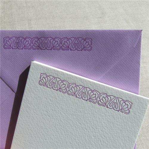 Correspondance cards - art nouveau (packet of 10)