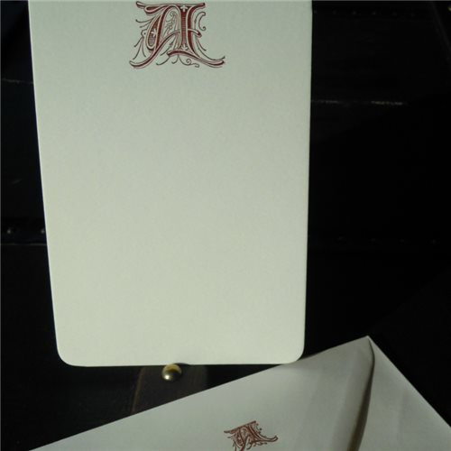Correspondance cards - initials (packet of 10)