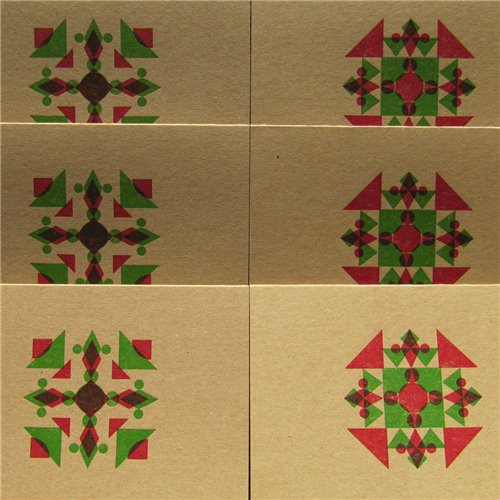 Geometric snowflake (packet of 6)