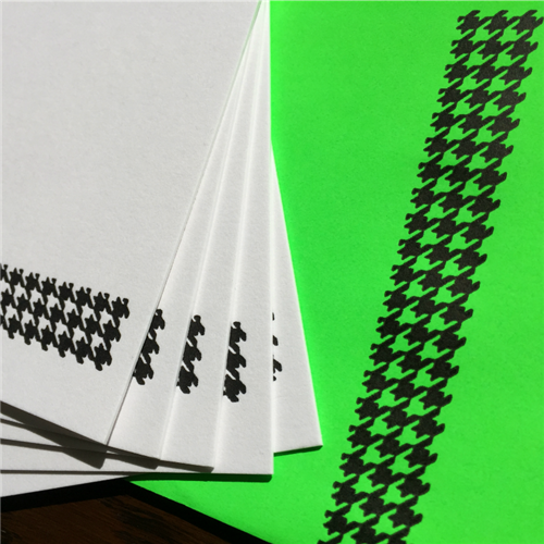 Correspondance cards - houndstooth check A5 (packet of 5)