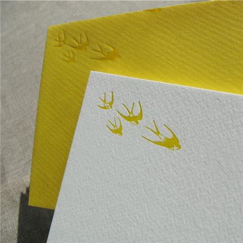 Cartes de correspondance - hirondelles (paquet de 10)
