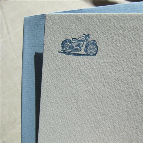 Cartes de correspondance - moto (paquet de 10)