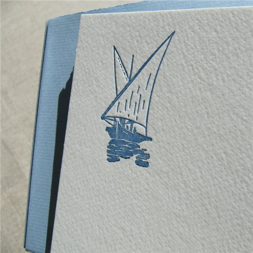 Correspondance cards - la barque (packet of 10)