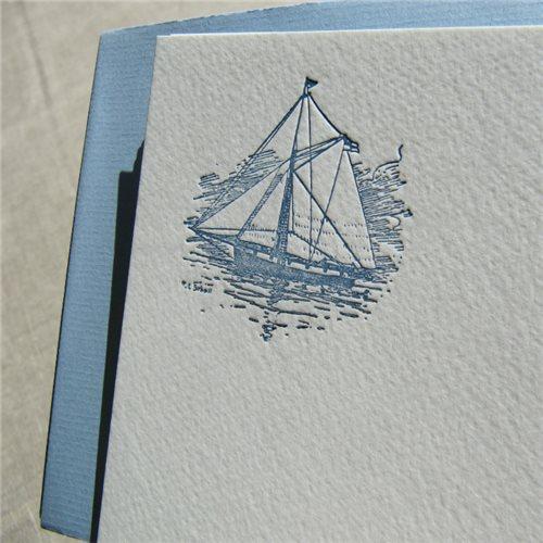 Cartes de correspondance - navire (paquet de 10)