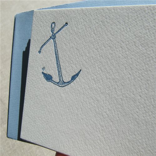 Correspondance cards - anchor (packet of 10)