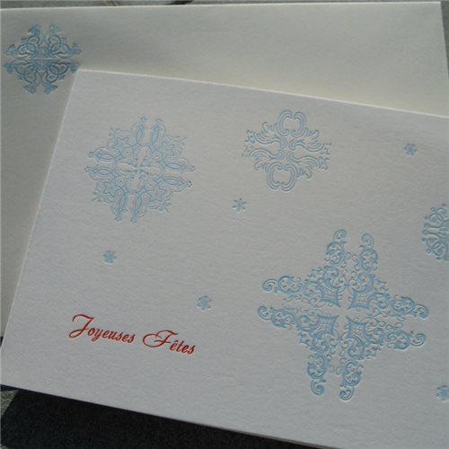 Joyeuses Fêtes flocons (paquet de 6)