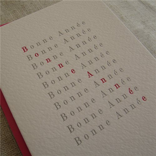 Bonne Année diagonale (packet of 6)