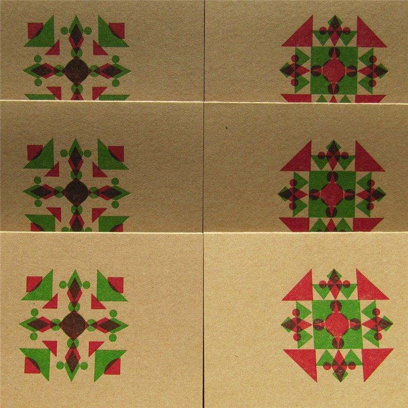 Geometric snowflake (packet of 6)