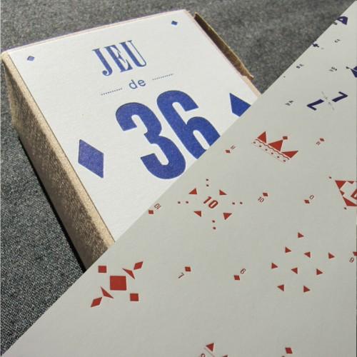 Jeu de 36 cartes et affiche - ensemble