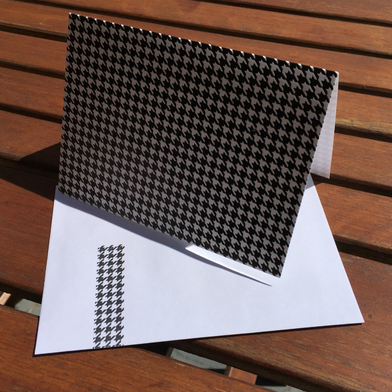 Houndstooth check (packet of 6)