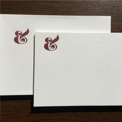 Cartes de correspondance - esperluette (paquet de 10)