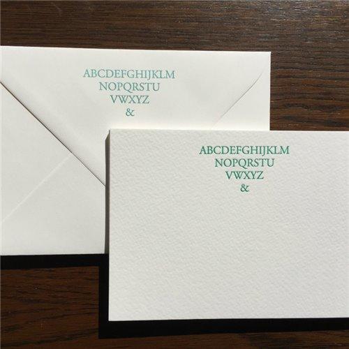 Cartes de correspondance - ABC (paquet de 10)