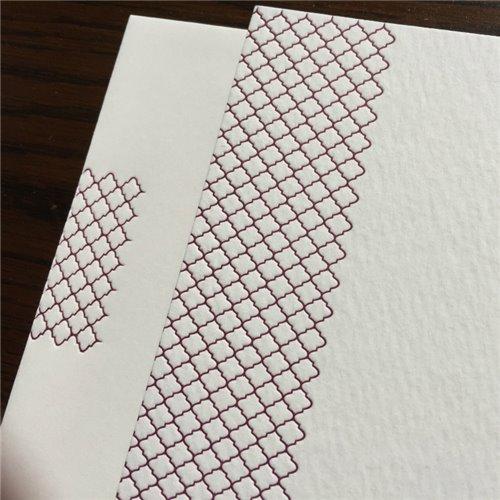 Cartes de correspondance - motif marocaine (paquet de 10)