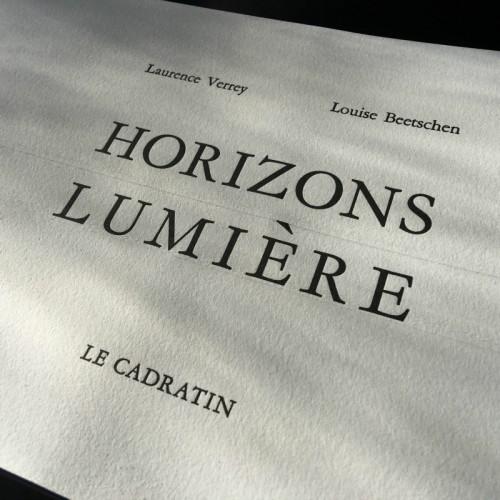 Horizons Lumière - Laurence Verrey & Louise Beetschen