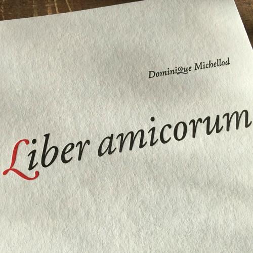 Liber amicorum - Dominique Michellod