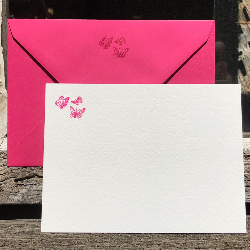 Correspondance cards - butterflies (packet of 10)