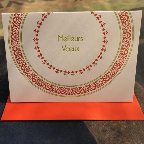 Meilleurs vœux orange (packet of 6)