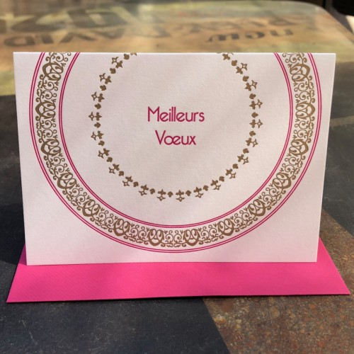 Meilleurs vœux fuchsia (packet of 6)