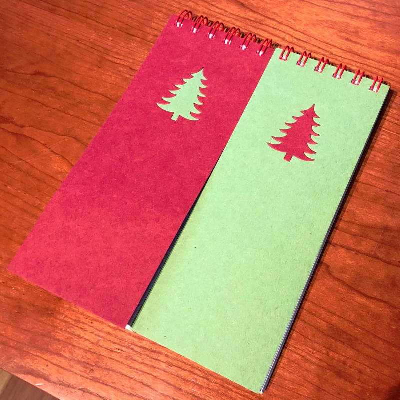 Notepad - pine tree