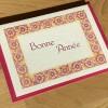 Bonne Année fuscia/peach (packet of 6)
