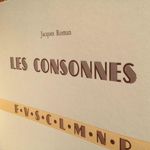 Les Consonnes - Jacques Roman